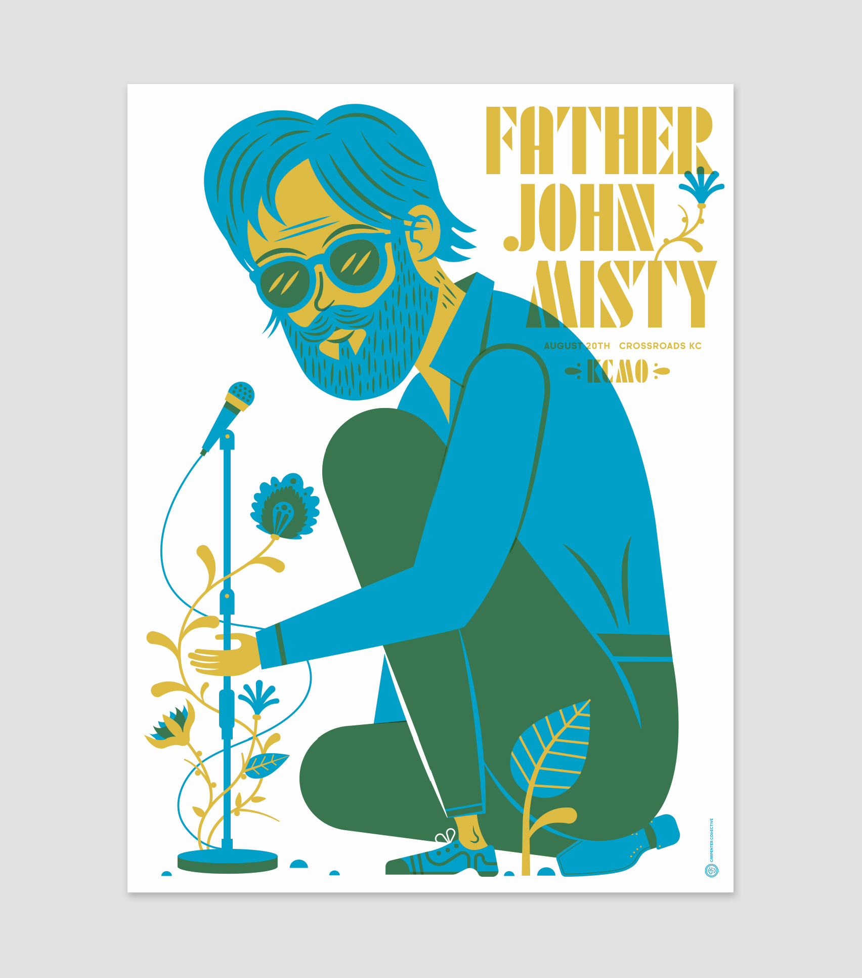 new poster for father john misty carpenter collective